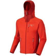 Mountain Hardwear Desna Hooded Jacket - Polartec® Power Stretch® (For Men) in State Orange/Flame - Closeouts