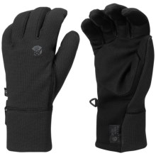 Mountain Hardwear Desna Stimulus Gloves - Fleece, Touch-Screen Compatible (For Men) in Black/Graphite - Closeouts