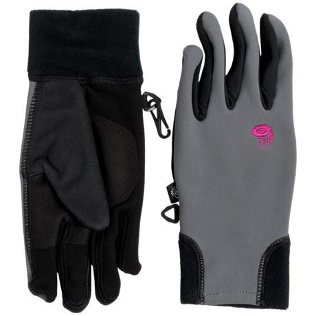 Mountain Hardwear Desna Stimulus Soft Shell Gloves - Touchscreen Compatible (For Women) in Graphite/Haute