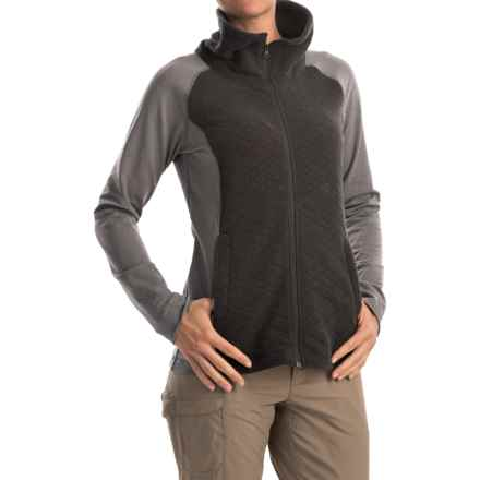 Mountain Hardwear Diamond Quartz Sweater - Full Zip (For Women) in Heather Black - Closeouts