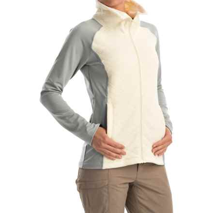 Mountain Hardwear Diamond Quartz Sweater - Full Zip (For Women) in Heather Steam - Closeouts