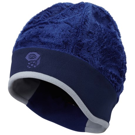 Mountain Hardwear Dome Meritage Beanie Hat - Double Shot Velboa Fleece (For Women) in Cousteau