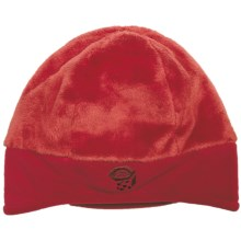 Mountain Hardwear Dome Meritage Beanie Hat - Double Shot Velboa Fleece (For Women) in Poppy - Closeouts