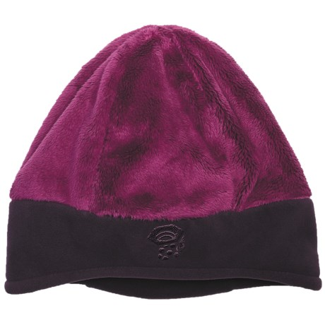 Mountain Hardwear Dome Meritage Beanie Hat - Double Shot Velboa Fleece (For Women) in Poppy