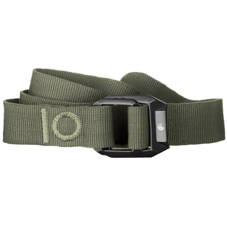 Mountain Hardwear Double Back Belt - Recycled Nylon (For Men and Women) in Peat Moss