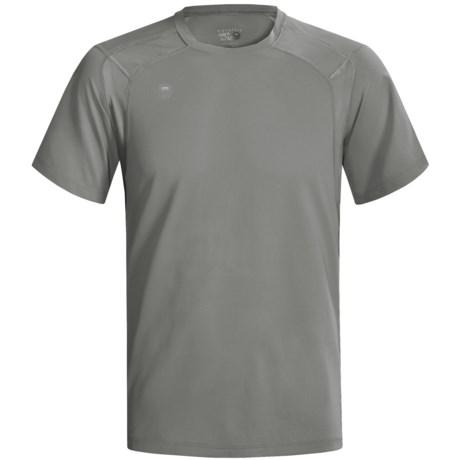 Mountain Hardwear Double Wicked Lite T-Shirt - Short Sleeve (For Men) in Titanium