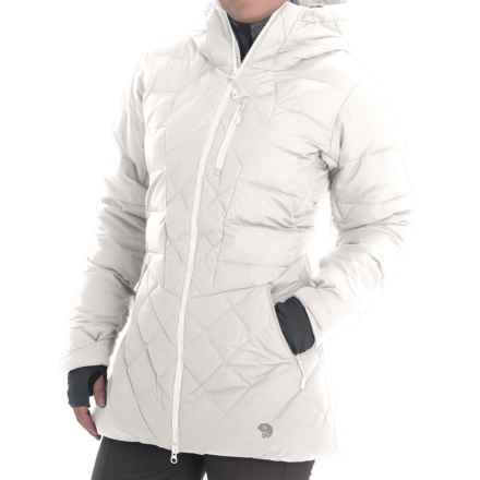 Mountain Hardwear Downhill Q.Shield® Down Parka - 700 Fill Power (For Women) in White/Steam - Closeouts