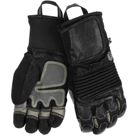 Mountain Hardwear Dragon's Claw Gloves - Waterproof, Insulated (For Men) in Black/Grey