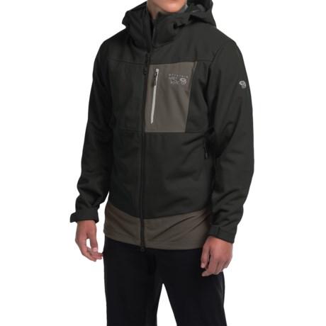 Mountain Hardwear Dragon Soft Shell Jacket (For Men) in Black