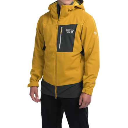 Mountain Hardwear Dragon Soft Shell Jacket (For Men) in Inca Gold - Closeouts