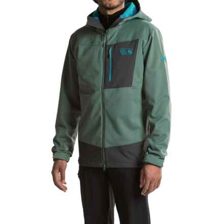 Mountain Hardwear Dragon Soft Shell Jacket (For Men) in Thunderhead Grey - Closeouts