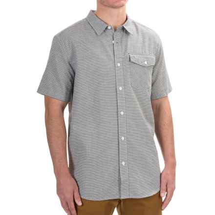 Mountain Hardwear Drummond Shirt - Short Sleeve (For Men) in Black - Closeouts