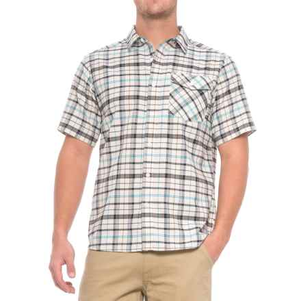 Mountain Hardwear Drummond Shirt - Short Sleeve (For Men) in Stone - Closeouts