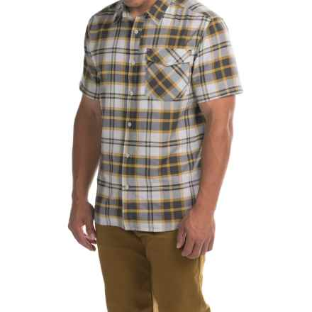 Mountain Hardwear Drummond Shirt - Short Sleeve (For Men) in Titanium - Closeouts
