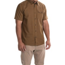 Mountain Hardwear Drummond Shirt - Short Sleeve (For Men) in Underbrush - Closeouts