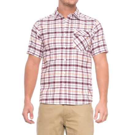 Mountain Hardwear Drummond Shirt - Short Sleeve (For Men) in White/Cote Du Rhone - Closeouts