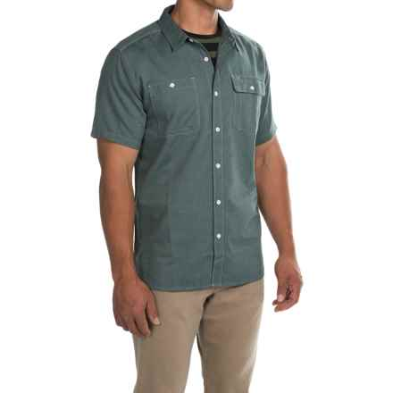 Mountain Hardwear Drummond Utility Shirt - Button Front, Short Sleeve (For Men) in Ice Shadow - Closeouts