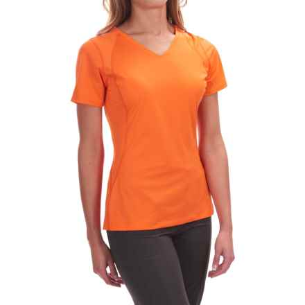 Mountain Hardwear DryHiker Tephra T-Shirt - UPF 50, Short Sleeve (For Women) in Navel Orange - Closeouts