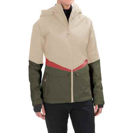 Mountain Hardwear Dry.Q® Core Returnia Ski Jacket - Waterproof, Insulated (For Women) in Stone/Stone Green - Closeouts