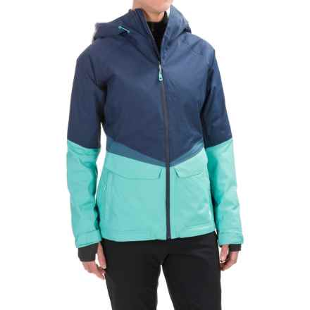 Mountain Hardwear Dry.Q® Core Returnia Ski Jacket - Waterproof, Insulated (For Women) in Zinc/Spruce Blue - Closeouts