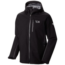 Mountain Hardwear Dry.Q Elite Chinley Jacket - Waterproof (For Men) in Black/Shark