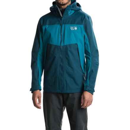 Mountain Hardwear Dry.Q® Exposure Hooded Jacket - Waterproof (For Men) in Hardwear Navy/Phoenix Blue - Closeouts