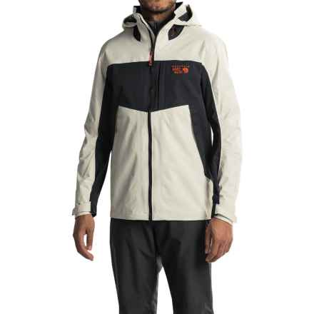 Mountain Hardwear Dry.Q® Exposure Hooded Jacket - Waterproof (For Men) in Stone/Black - Closeouts