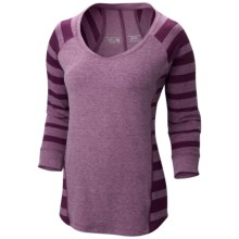 Mountain Hardwear DrySpun Burnout Shirt - UPF 25, Elbow Sleeve (For Women) in Dark Raspberry - Closeouts