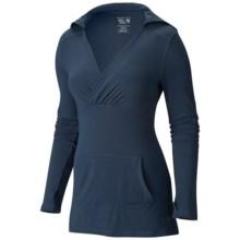 Mountain Hardwear Dryspun Hoodie - UPF 25+, V-Neck (For Women) in Zinc - Closeouts