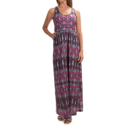 Mountain Hardwear DrySpun Perfect Printed Maxi Dress - UPF 25, Sleeveless (For Women) in Dark Raspberry - Closeouts