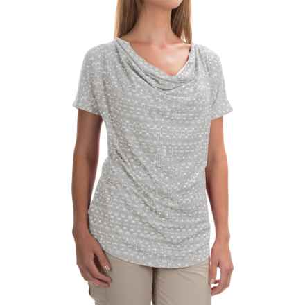 Mountain Hardwear DrySpun Perfect T-Shirt - UPF 25+, Short Sleeve (For Women) in Steam - Closeouts