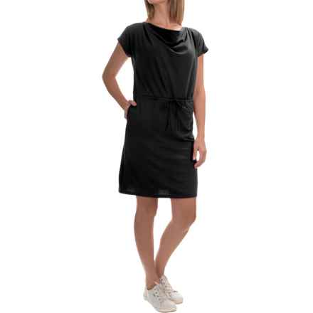 Mountain Hardwear DrySpun Perfect Tee Dress - UPF 25+, Scoop Neck, Short Sleeve (For Women) in Black - Closeouts