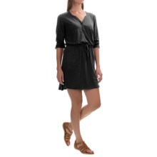 Mountain Hardwear DrySpun Slub Dress - 3/4 Sleeve (For Women) in Black - Closeouts