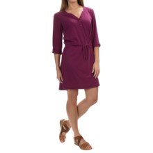 Mountain Hardwear DrySpun Slub Dress - 3/4 Sleeve (For Women) in Dark Raspberry - Closeouts