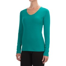 Mountain Hardwear DrySpun Solid Shirt - V-Neck, Long Sleeve (For Women) in Mayan Green - Closeouts