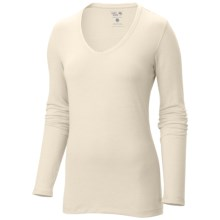 Mountain Hardwear DrySpun Solid Shirt - V-Neck, Long Sleeve (For Women) in Snow - Closeouts