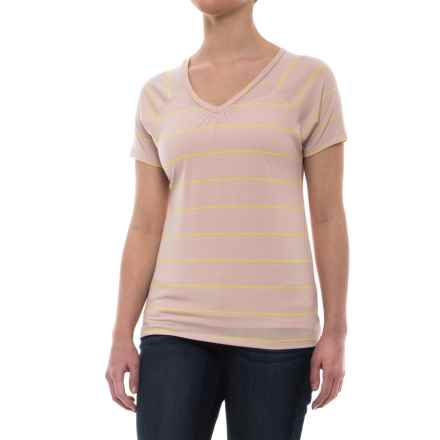 Mountain Hardwear Dryspun Striped T-Shirt - UPF 30, Short Sleeve (For Women) in Suave Mauve - Closeouts