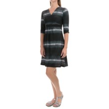 Mountain Hardwear Dryspun V-Neck Dress - Elbow Sleeve (For Women) in Black - Closeouts