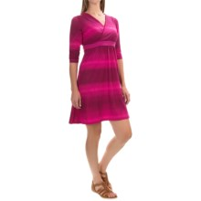 Mountain Hardwear Dryspun V-Neck Dress - Elbow Sleeve (For Women) in Deep Blush - Closeouts