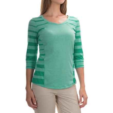 Mountain Hardwear DrySpun Wick.Q® Perfect Elbow T-Shirt - UPF 25, Elbow Sleeve (For Women) in Glacier Green - Closeouts