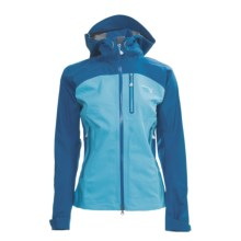Mountain Hardwear Drystein Dry.Q Elite Jacket - Waterproof (For Women) in Jewel/Oasis Blue - Closeouts