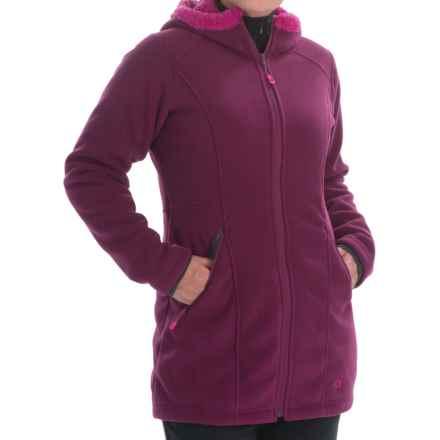 Mountain Hardwear Dual Fleece Hooded Parka (For Women) in Dark Raspberry - Closeouts