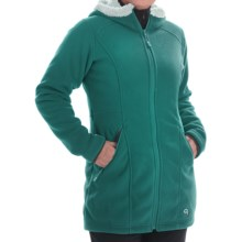 Mountain Hardwear Dual Fleece Hooded Parka (For Women) in Teal Green - Closeouts