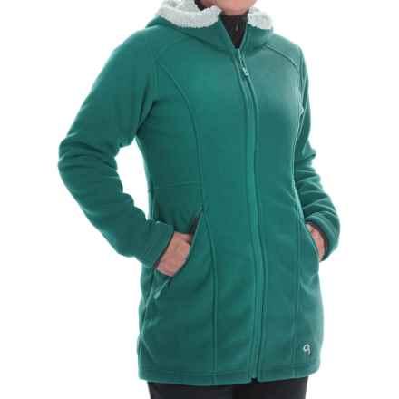 Mountain Hardwear Dual Fleece Hooded Parka (For Women) in Teal Green - Closeouts