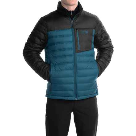 Mountain Hardwear Dynotherm Down Jacket - 650 Fill Power (For Men) in Phoenix Blue/Black - Closeouts