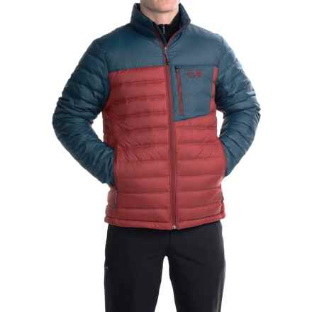 Mountain Hardwear Dynotherm Down Jacket - 650 Fill Power (For Men) in Smolder Red/Hardwear Navy - Closeouts