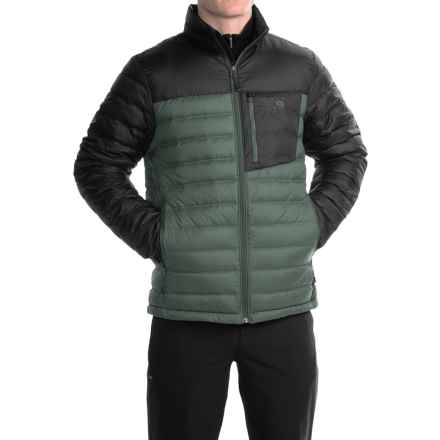 Mountain Hardwear Dynotherm Down Jacket - 650 Fill Power (For Men) in Thunderhead Grey/Black - Closeouts