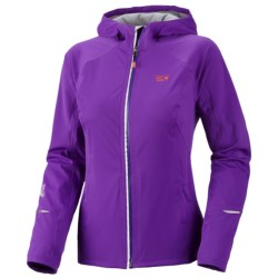 Mountain Hardwear Effusion Dry.Q Active Hooded Soft Shell Jacket - Waterproof (For Women) in Iris