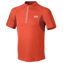 Mountain Hardwear Elmoro Shirt - UPF 25, Zip Neck, Short Sleeve (For Men) in State Orange - Closeouts