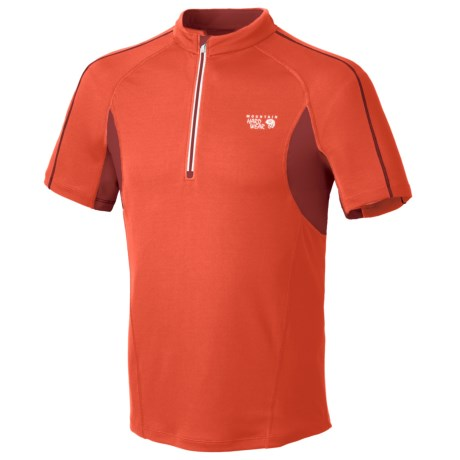 Mountain Hardwear Elmoro Shirt - UPF 25, Zip Neck, Short Sleeve (For Men) in Sea Salt